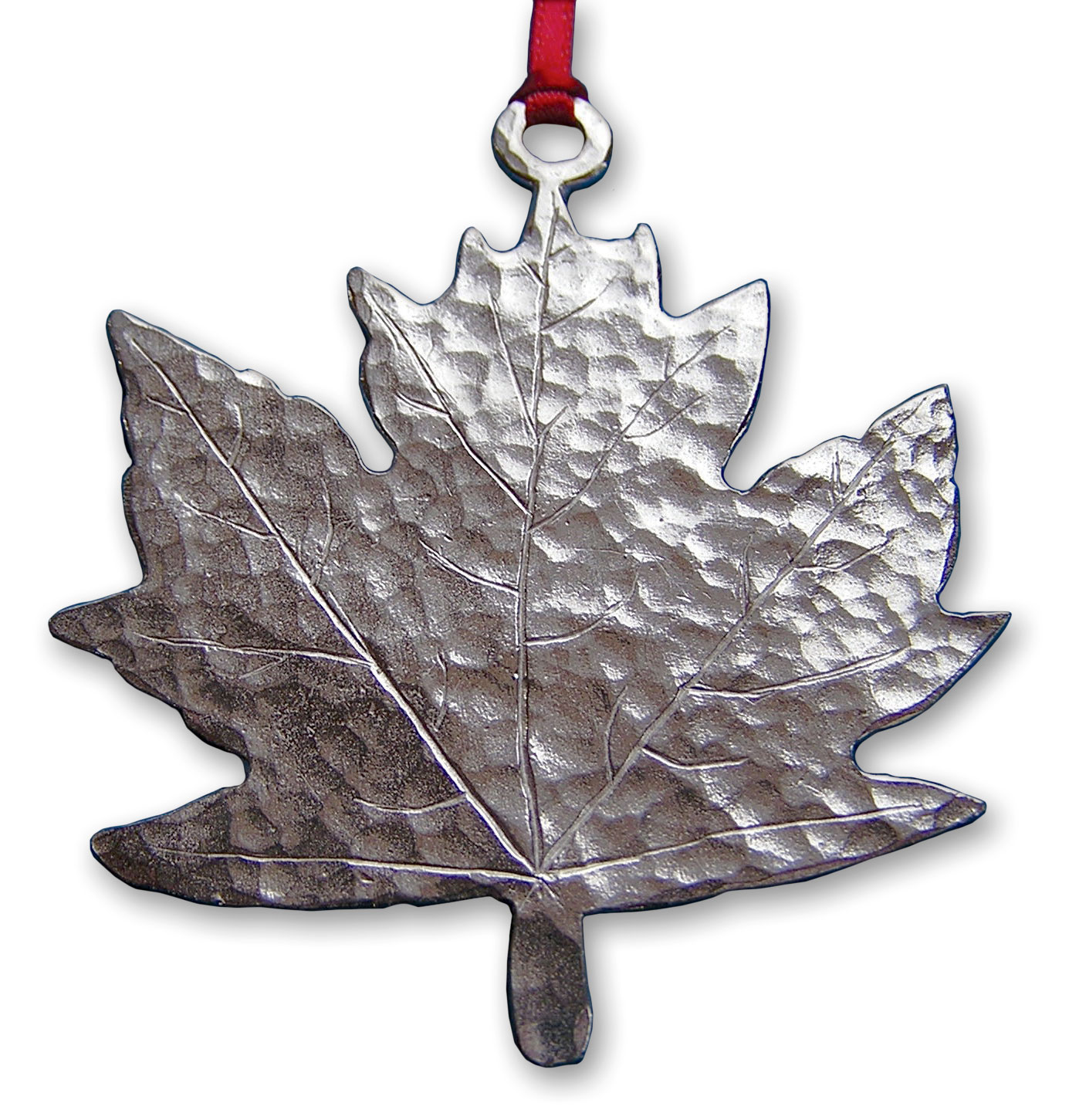 hammered maple leaf ornament gibson pewter hammered maple leaf ornament gibson pewter
