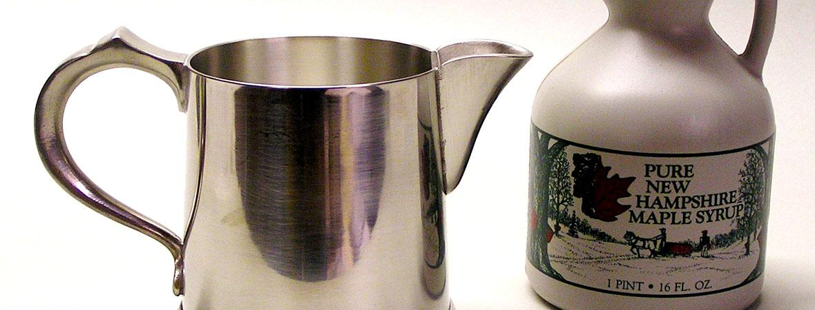 photo of Syrup Pitcher and maple syrup