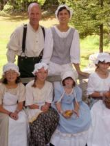 Gibson Family in period costume