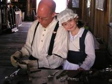 Photo of Jon & Lily at 2012 Hillsborough Living History Event