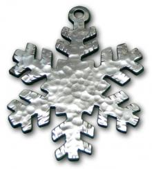 Photo of Hammered Snowflake Pewter Ornament