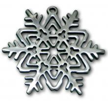 Photo of Geometric Snowflake Pewter Ornament