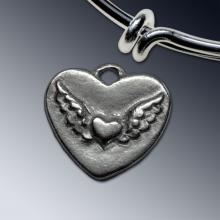 Winged Heart Charm