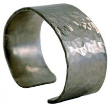 Photo of Wide Dimple Pewter Bracelet