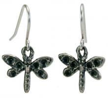 Photo of Pewter Dragonfly Earrings