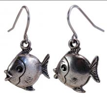 Photo of Pewter Fish Earrings