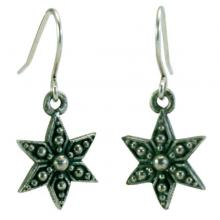 Photo of Large Pewter Star Earrings