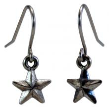 Photo of Small Pewter Star Earrings