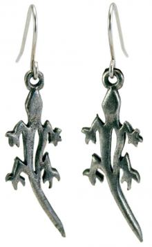 Photo of Pewter Lizard Earrings