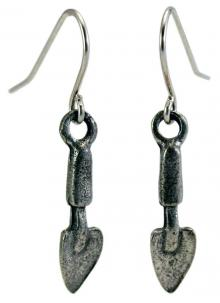 Photo of Pewter Trowel Earrings