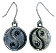 Photo of Pewter Yin/Yang Earrings