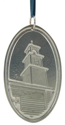 Photo of Old Firehouse Bell Tower Pewter Ornament