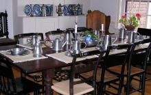 Photo of Table Setting with Pewter