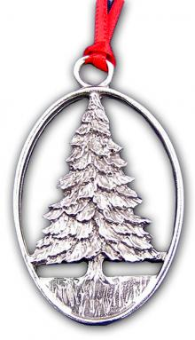 Pewter Tree Ornament