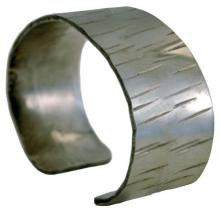Photo of Wide Birch Pewter Bracelet