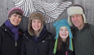 Gibson Family - winter 2014 (left to right: Camille, Emily, Lily & Jon)