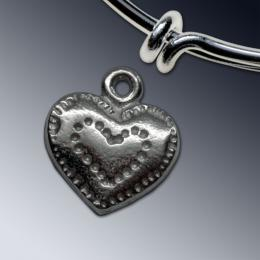 Pie Crust Heart Charm