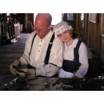 Photo of Jon & Lily Demonstrating at the 2012 Living History Event